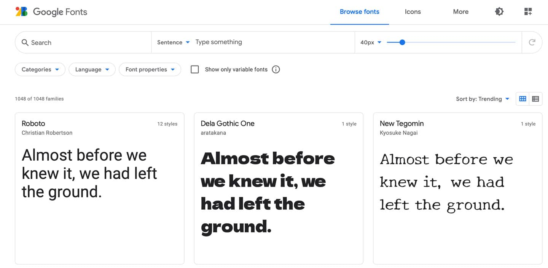 Google-font-typsnitt-hemsida