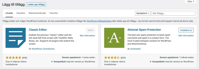 hemsida-wordpress-tillägg